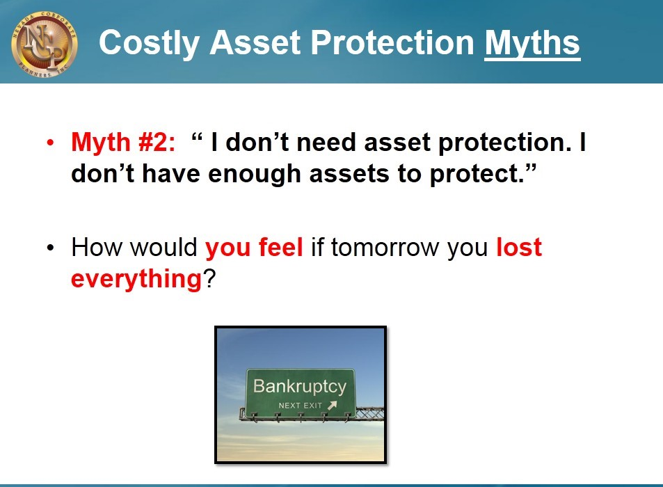Costly Asset Protection Myths
