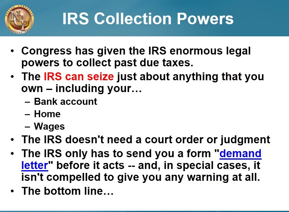 IRS collection powers